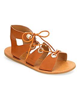 Bella Tie Up Eyelet Sandals Extra Wide