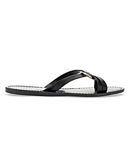 Elisa Cross Strap Sandal Extra Wide Fit