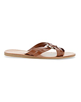 Elisa Cross Strap Ring Sandal Wide Fit