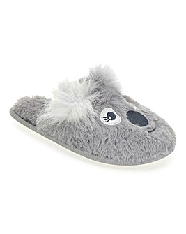 Koala Mule Slippers Wide Fit