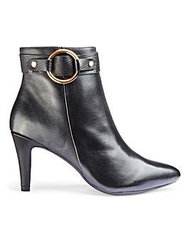 Ducie Leather Pointed Boots Extra Wide