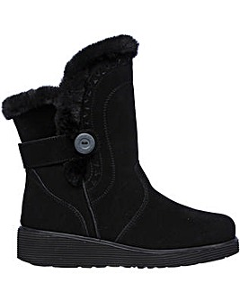 Skechers Keepsakes Wedge Cozy Peak Mid Boot