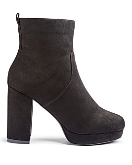 Keela Platform Boots Wide Fit
