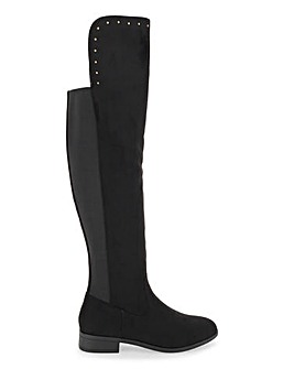 Felicia Over The Knee Stretch Boots Wide E Fit Standard Calf