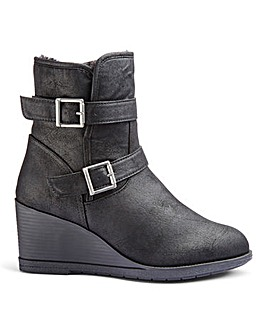 Sarah Wedge Ankle Boot Wide Fit