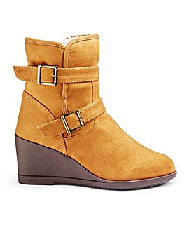 Sarah Wedge Ankle Boot Wide E Fit