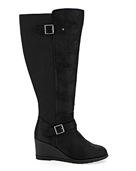 Sally Wedge Boot Wide E Fit Standard Calf