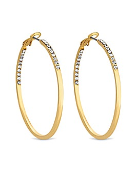 Jon Richard Pave Large Hoop Earring