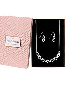 Jon Richard Infinity Link Jewellery Set