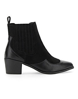 Judy Western Ankle Boot Wide E Fit