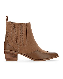 Judy Western Ankle Boot Wide Fit