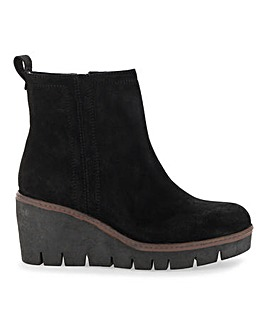 Pat Suede Ankle Boot Wide Fit