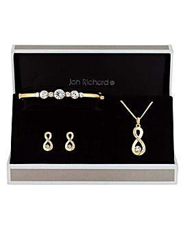 Jon Richard Infinity Trio Jewellery Set