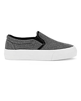 Sunny Slip On Flatforms Extra Wide EEE Fit