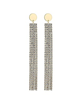Mood Diamante Shoulder Duster Earring
