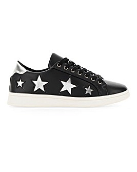 Starry Lace Up Trainer Wide E Fit