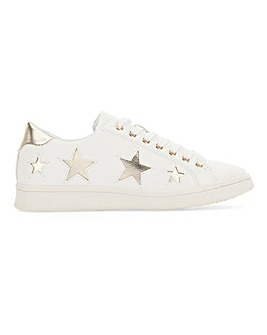 Starry Lace Up Trainer Wide Fit