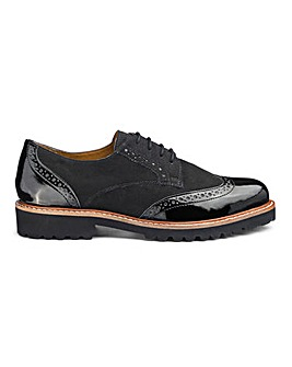 Abitha Chunky Sole Brogue Extra Wide EEE Fit