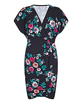 Mela London Curve Floral Wrap Dress