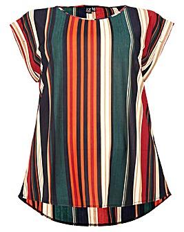 Izabel London Curve Stripe Print Top