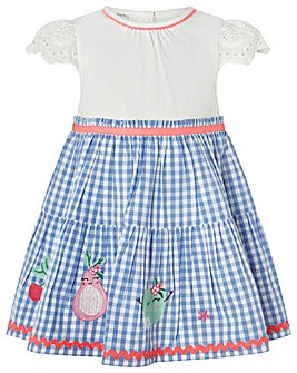 Monsoon Baby Molly 2In1 Gingham Dress