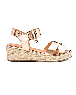 Frankie Espadrille Wedges Extra Wide Fit