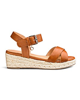 77a7126fb102 Frankie Espadrille Wedges Extra Wide Fit