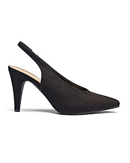 Jodie Slingback Point Heels Ex Wide Fit