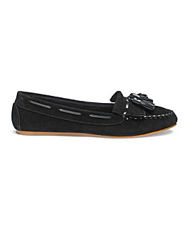 Hayley Leather Moccasin Wide Fit