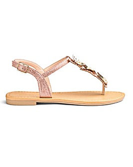 Cheryl Butterfly Sandals Wide Fit
