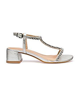 Jenny Block Heel Sandal Extra Wide Fit