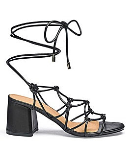 Megan Knot Detail Heels Wide Fit