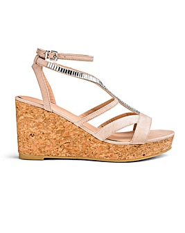 Imi Jewelled Wedge Extra Wide Fit