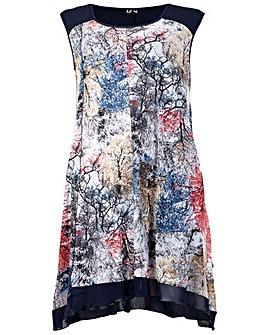 Izabel London Curve Mesh Tunic Dress
