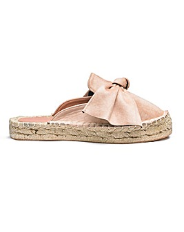 Maisie Bow Detail Mules Wide E Fit
