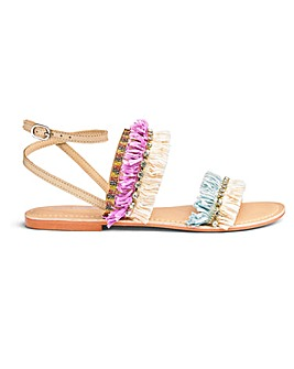 Glamorous Raffia Sandal Standard Fit
