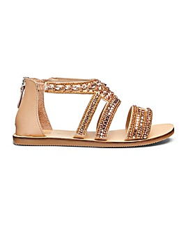 Gemma Jewel Sandals Extra Wide Fit