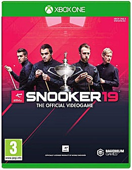 Snooker 19 The Official Video Game XB1