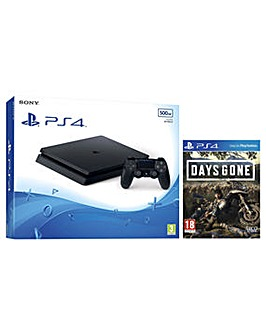 PS4 500GB Black Console and Days Gone