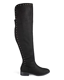 Kimora Boots Wide Fit Super Curvy Calf