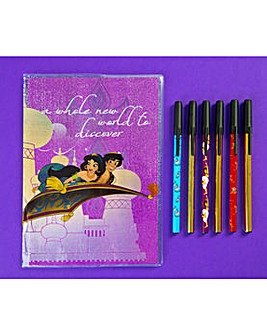 Disney Aladdin Notebook And Pens