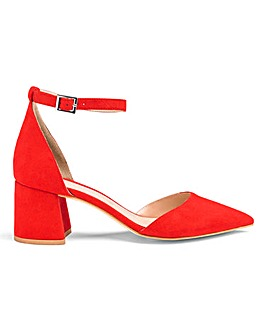 Este Pointed Block Heels Extra Wide Fit