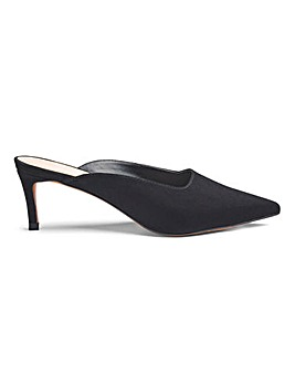 Margo Kitten Heel Mule Extra Wide Fit