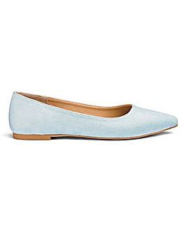Alicia Pointed Ballerina Wide Fit