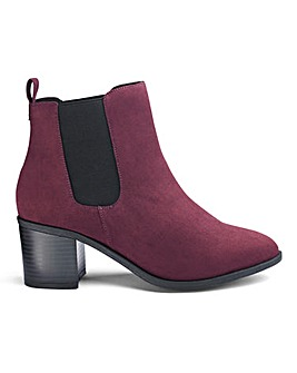 June Block Heel Chelsea Wide Fit