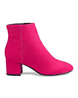 Dolores Low Block Heel Boots Wide E Fit