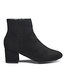 Dolores Low Block Heel Boots Ex Wide Fit