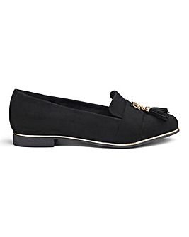 Alma Trim Detail Loafers Wide Fit