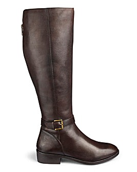 Fleur Leather Boots Extra Curvy Plus Wide E Fit