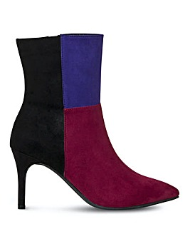 Joe Browns Patchwork Suede Boots E Fit